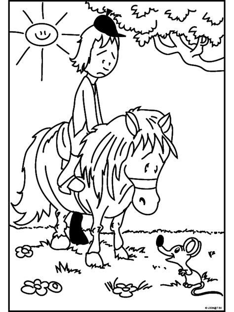 Kleurplaat Ponyrijden by Ponyrijden