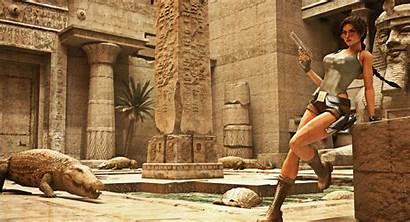 Tomb Croft Lara Raider Egypt Crocodile Glasses