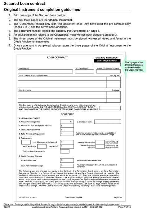 Loan Document Template Free