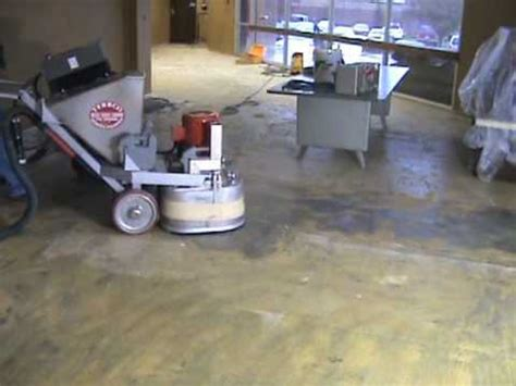 Glue Down Carpet Removal Machine by Terrco Inc Carpet Glue Removal Youtube