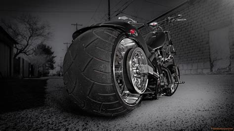 Custom Chooper Wide Tyre, Hd Bikes, 4k Wallpapers, Images