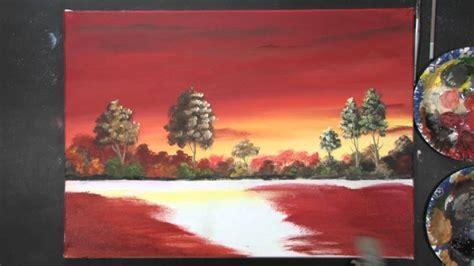 acrylmalerei sonnenuntergang mit dietmanns maltechnik