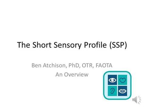 short sensory profile ssp audio synch version