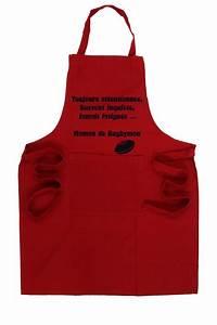 Tablier De Cuisine Homme : tablier de cuisine rugby rouge esprit rugby ~ Melissatoandfro.com Idées de Décoration