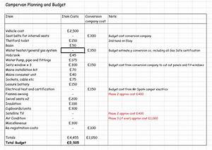 planning and budget build a campervan campervan budget With how to make a budget plan template
