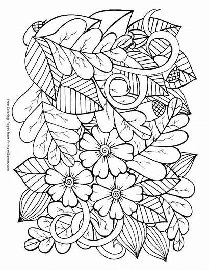 Coloring Pages Adult Fall Adults Autumn Printable