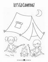 Camping Coloring Raid sketch template