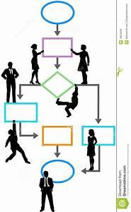 Process Management Business People Flowchart Stock Vector