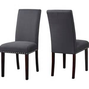 dhi nice nail head upholstered dining chair set of 2