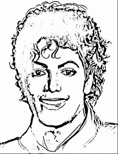 Coloring Pages Jackson Realistic Michael Printable Guy