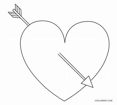 Coloring Pages Hearts Heart Valentine Printable Cool2bkids