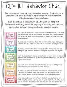Clip Chart Behavior First Grade