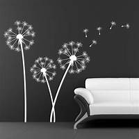perfect dandelion wall decals Wall Decal: Awesome White Dandelion Wall Decal Dandelion ...
