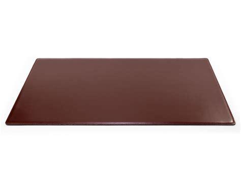 grand sous de bureau en cuir marron 80 cm par 50 cm