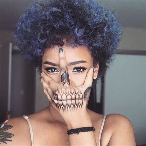 Curly Hair Bold Colors And Tat On Pinterest