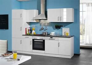 Küchenzeile Hochglanz Weiß : k chenzeile hochglanz weiss einbauk che elektroger te k che geschirrsp ler 280cm ebay ~ Orissabook.com Haus und Dekorationen