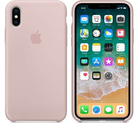 Buy APPLE iPhone X Silicone Case - Pink Sand | Free ...