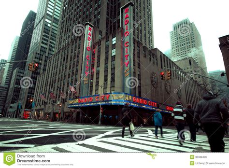 modern vires of the city songs radio city nyc editorial photo image 35338496