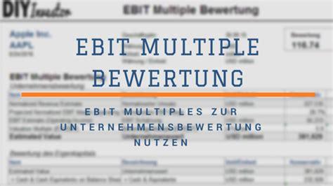 ebit multiple bewertung diy investor