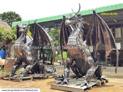metal animal sculptures  garden recycled scrap metal