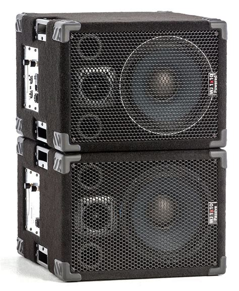 2x10 bass cabinet 4 ohms wj 1 215 10 s pair of stereo mono bass cabinets wayne jones