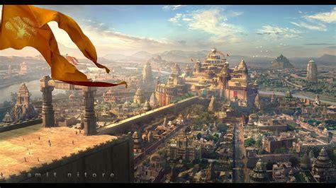 ayodhyakingdom  lord ram  amitnitore matte painting