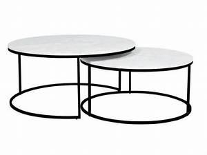 Round Nesting Coffee Table Unique Elle Round Marble Nest
