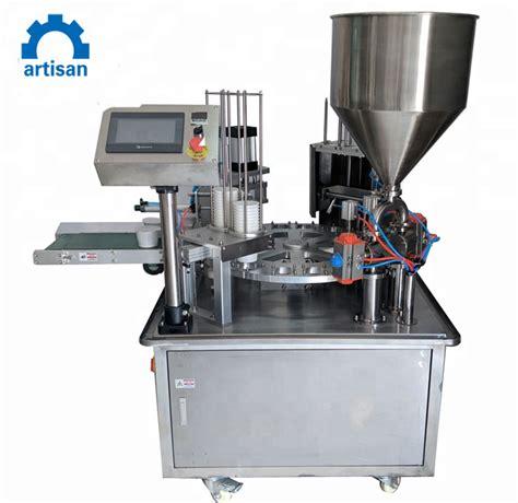 china rotary filling sealing machine  milk teajuice yogurt china automatic machine