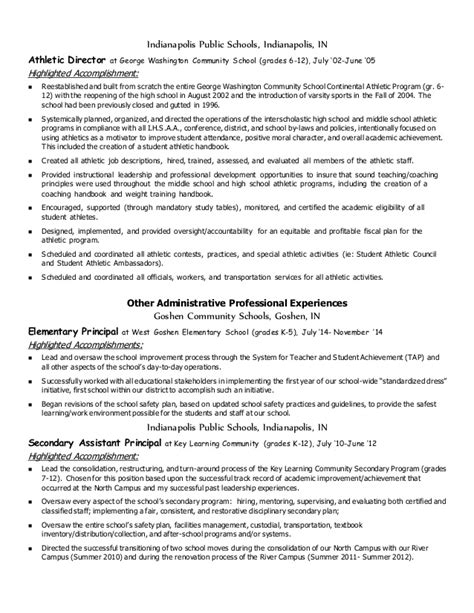 Sports Accomplishments On Resume by Cinninger Ad Administrative Resume June 2015 With