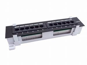 Cnaweb 12 Port Cat5e Vertical Rackmount 110 Rj45 Patch