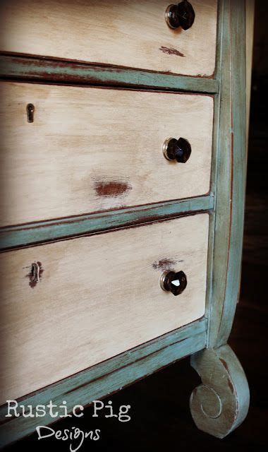 rustic pig  empire dresser makeover cool whip