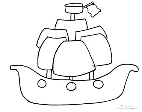 pirate ship coloring pages getcoloringpagescom