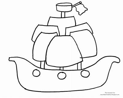 Pirate Ship Coloring Pages Rocket Lego Outline
