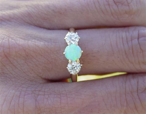 opal vintage engagement rings opal engagement rings opal engagement rings