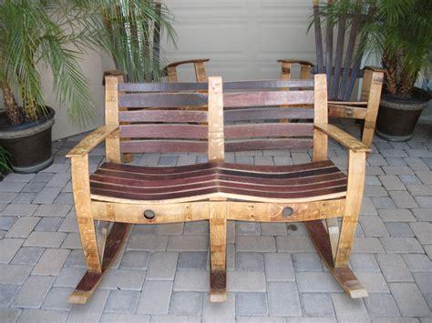 woodwork rocking chair wine barrel furniture plans  plans