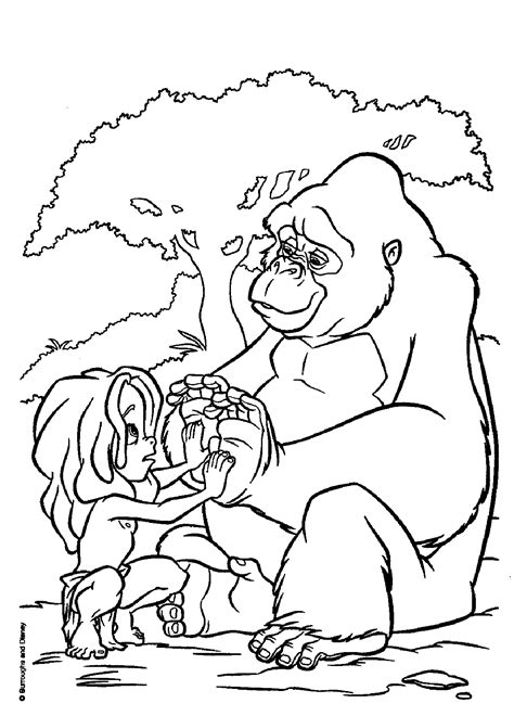 Tarzan to print for free - Tarzan Kids Coloring Pages