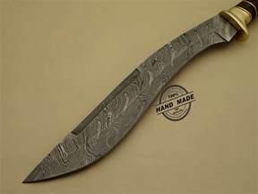 damascus steel kitchen knives damascus kukuri knife custom handmade damascus steel