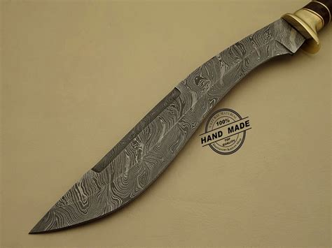 Custom Kitchen Knives - damascus kukuri knife custom handmade damascus steel hunting