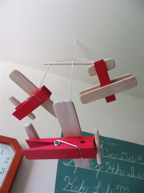 project lady diy wooden clothespin airplane toys