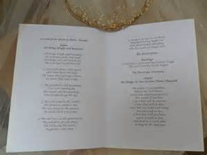 wedding booklets wedding order of service order of day cards order of