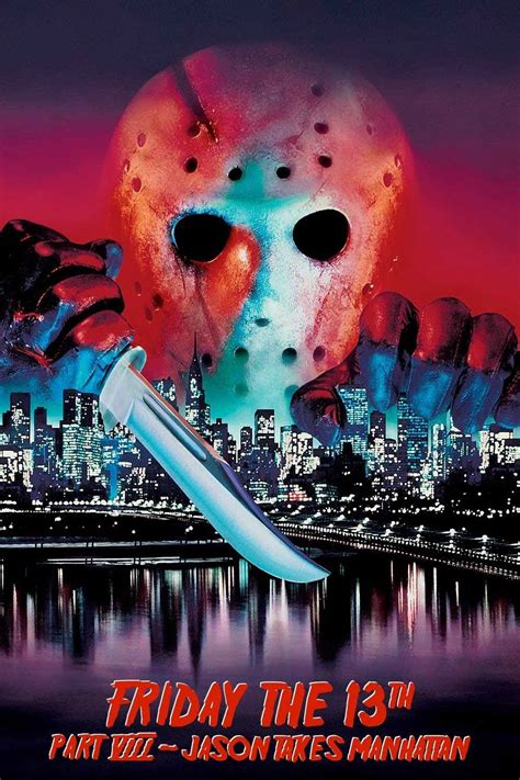 friday 13th manhattan jason takes viii poster movies 1989 thriller horror