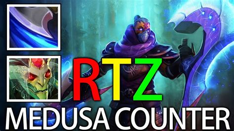 medusa counter with anti mage by rtz smurf acount pro dota gameplay youtube