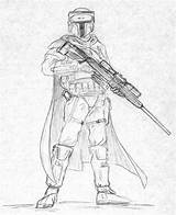 Mandalorian Coloring Pages Sniper Armor Wars Star Female Deviantart Drawing Template Kuk Sketch Drawings Sci Fi Print Templates Halo Character sketch template