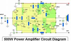 500w Power Amplifier Circuit Diagram