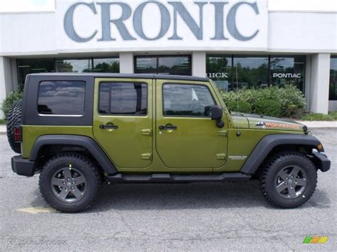jeep unlimited green 2010 rescue green metallic jeep wrangler unlimited