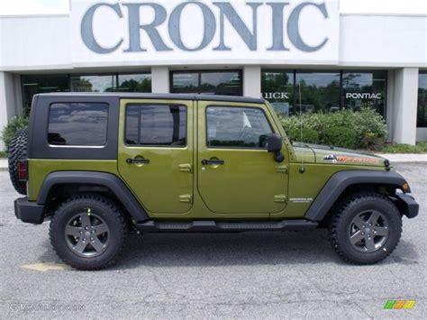dark green jeep 2010 rescue green metallic jeep wrangler unlimited
