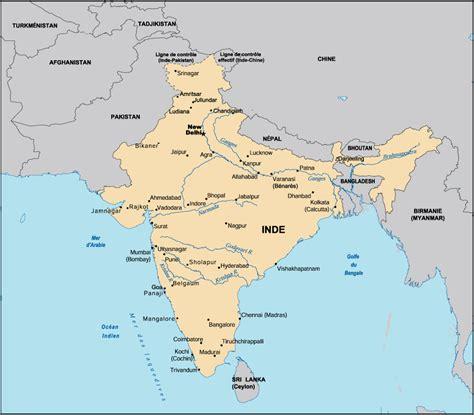 Carte Politique Du Monde Indien by Carte Inde Centre D Apprentissage Interculturel