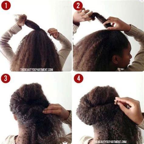 tuto  chignons de fetes  realiser sur cheveux crepus