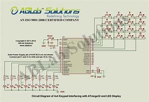 Interfacing 4x4 Keypad With Avr Atmega32 Microcontroller