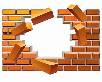 Brick Broken Wall Clipart Vector Effect Euclidean